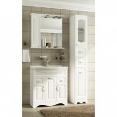 Комплект мебели для ванной Франческа Империя 75 белый
