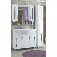 Комплект мебели для ванной Франческа Инфинити 100 белый