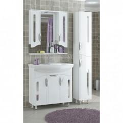 Комплект мебели для ванной Франческа Инфинити 80 белый