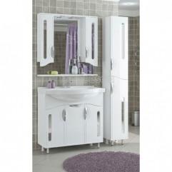 Комплект мебели для ванной Франческа Инфинити 90 белый