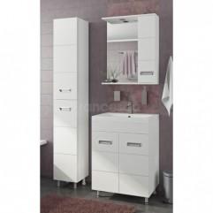 Комплект мебели для ванной Франческа Кубо 60 белый