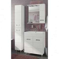 Комплект мебели для ванной Франческа Кубо 70 белый