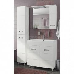 Комплект мебели для ванной Франческа Кубо 80 белый