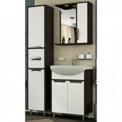 Комплект мебели для ванной Франческа Версаль 60 белый/венге