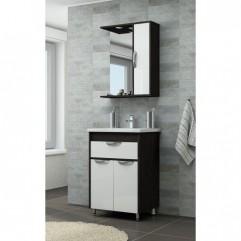 Комплект мебели для ванной Франческа Версаль 50 с 1 ящиком белый/венге