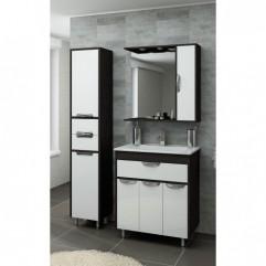Комплект мебели для ванной Франческа Версаль 75 с 1 ящиком белый/венге