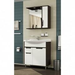 Комплект мебели для ванной Франческа Версаль 75 белый/венге