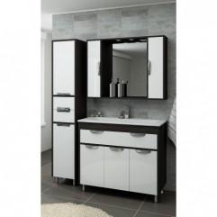 Комплект мебели для ванной Франческа Версаль 100 с 1 ящиком белый/венге