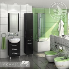 Комплект мебели для ванной Акватон Ария 50 H черный