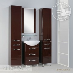 Комплект мебели для ванной Акватон Ария 50 H темно-коричневый
