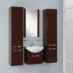 Комплект мебели для ванной Акватон Ария 50 M темно-коричневый