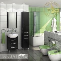 Комплект мебели для ванной Акватон Ария 65 H черный