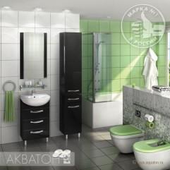 Комплект мебели для ванной Акватон Ария 65 H тёмно-коричневый