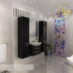 Комплект мебели для ванной Акватон Ария 65 M черный