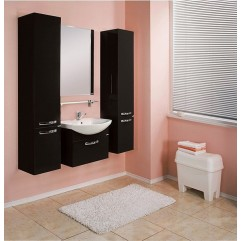 Комплект мебели для ванной Акватон Ария 80 черный