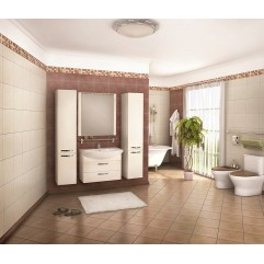 Комплект мебели для ванной Акватон Ария 80 M белый