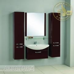 Комплект мебели для ванной Акватон Ария 80 темно-коричневый