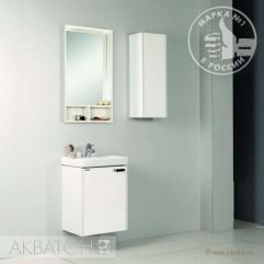 Комплект мебели для ванной Акватон Йорк 50 М белый/выбеленный дуб
