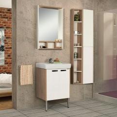 Комплект мебели для ванной Акватон Йорк 55 белый/дуб сонома