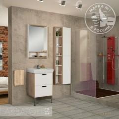 Комплект мебели для ванной Акватон Йорк 55 М белый