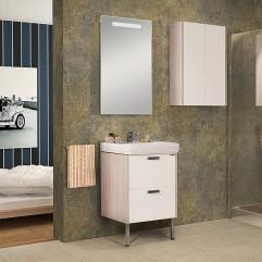 Комплект мебели для ванной Акватон Йорк 55 белый/ясень