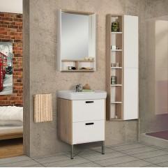 Комплект мебели для ванной Акватон Йорк 60 белый/дуб сонома