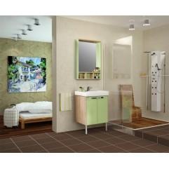 Комплект мебели для ванной Акватон Йорк 60 салатовый/дуб сонома