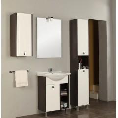 Комплект мебели для ванной Акватон Крит 60 M белый/венге