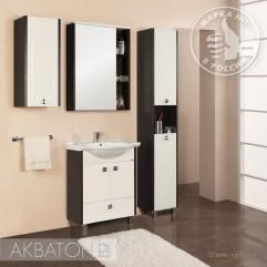 Комплект мебели для ванной Акватон Крит 65 H белый/венге