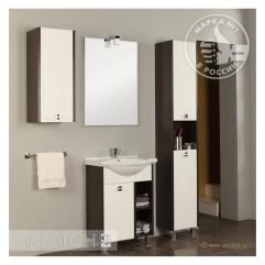 Комплект мебели для ванной Акватон Крит 65 M белый/венге