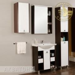 Комплект мебели для ванной Акватон Крит 65 MH белый/венге