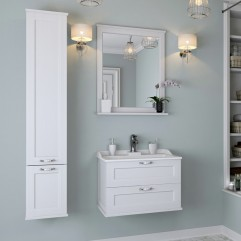 Комплект мебели для ванной Акватон Леон 65 дуб белый