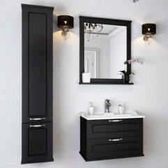 Комплект мебели для ванной Акватон Леон 65 ясень черный