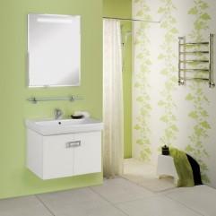 Комплект мебели для ванной Акватон Оптима 70 белый