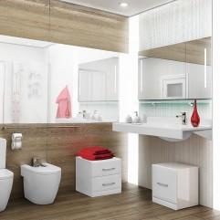 Комплект мебели для ванной Акватон Отель 100 белый
