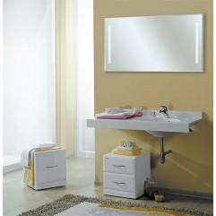 Комплект мебели для ванной Акватон Отель 120 белый