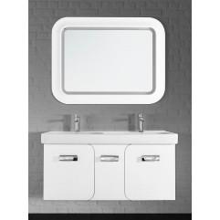 Комплект мебели для ванной  Vod-ok Астрид 120 подвесной белый