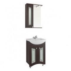 Комплект мебели для ванной  Vod-ok Адам С 55 венге ( Фасад Стекло)