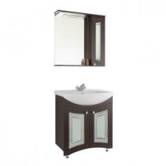 Комплект мебели для ванной  Vod-ok Адам С 75 венге ( Фасад Стекло)