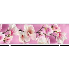 Экран под ванну раздвижной 170 см Метакам Премиум АРТ розовый цветок