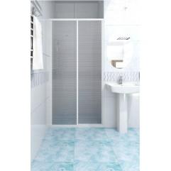Душевая дверь текстурное стекло 89x140 Метакам КУПЕ