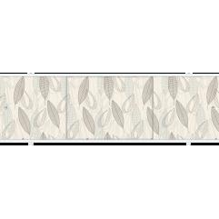 Экран под ванну раздвижной 170 см Метакам Премиум ПО коричневый листик