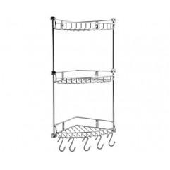 Полка металлическая угловая трехъярусная WasserKRAFT K-1233