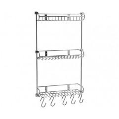 Полка металлическая прямая трехъярусная WasserKRAFT K-1433