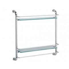 Полка стеклянная двухъярусная WasserKRAFT K-2022