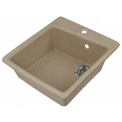 Кухонная мойка 510х470 Акватон Парма песочная