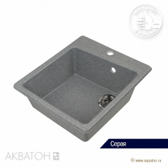 Кухонная мойка 510х470 Акватон Парма серый