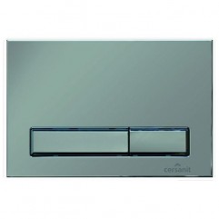 Кнопка для инсталляции GEOMETRY M07, хром матовый, универсальная