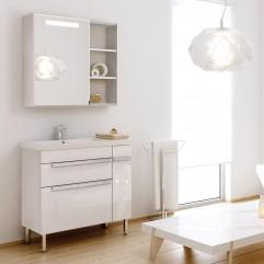 Комплект мебели для ванной Alavann Marko 85 белый