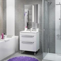 Комплект мебели для ванной Alavann Praga 75 белый